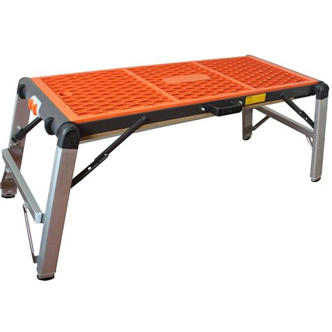 foldable work bench craftright 2 in 1 folding platform workbench bunnings