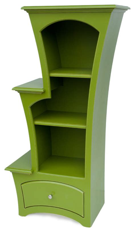bookcase no 7 in apple green paint by dust furniture
