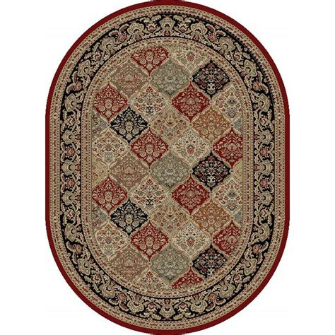 Tayse Rugs Sensation Red 5 Ft 3 In X 7 Ft 3 In Home Depot Area Rugs 5x8