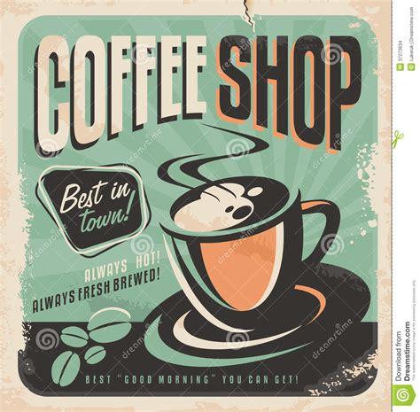 Retro Le by Retro Poster For Coffee Shop Stock Vector Illustration