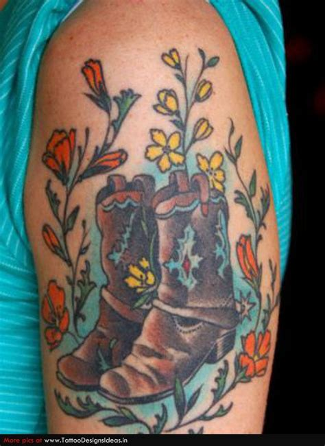 cowboy boot tattoo traditional cowboy boot search ink