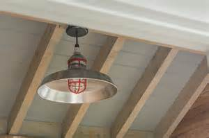american made barn light with cast guard for