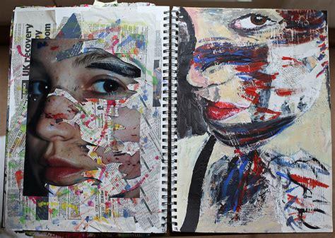 final layout artist sketchbook work development of jonathan darby work