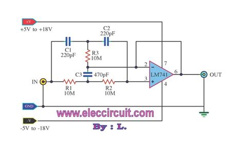high pass filter using ic 741 high q notch filter electronic projects circuits