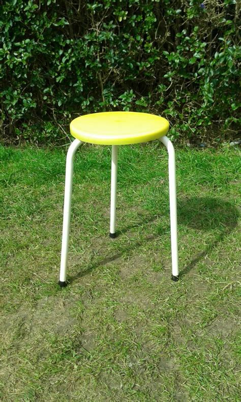 Pale Yellow Stool In Children by Vintage Children S Atomic Stool 1960s Retro Vintage