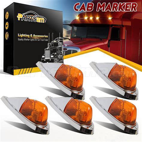 semi truck clearance lights 5pcs truck semi trailer cab marker roof running
