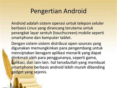 membuat game berbasis android ppt eksistensi android di masa kini