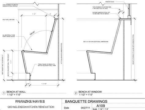 banquette design plans banquette seating design cotter christian ltd co