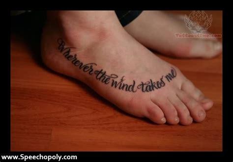 foot tattoos tumblr foot quote tattoos www pixshark images