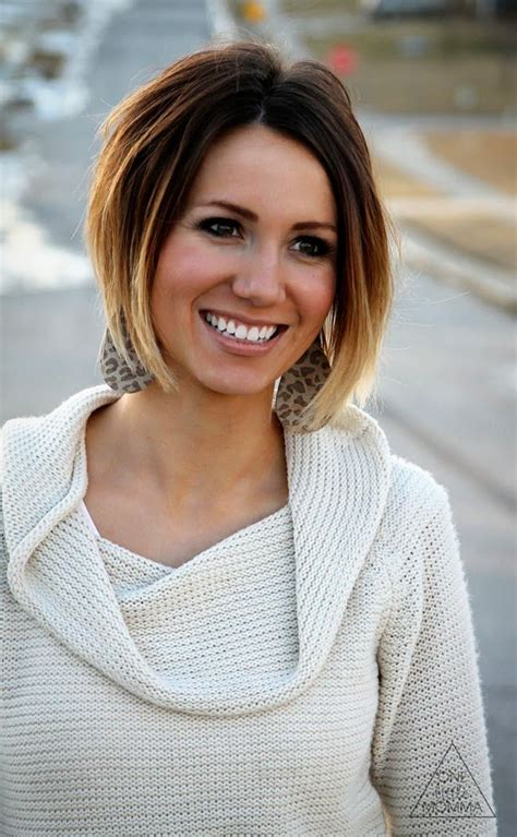 short hairstyles blonde and brown cute short dark brown to blonde ombre bob hair