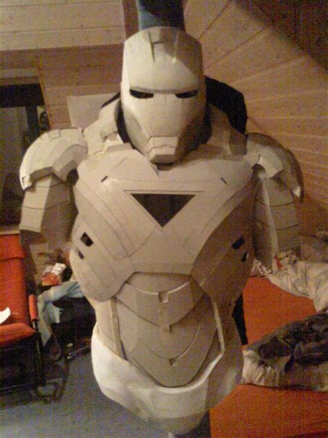 How To Make A Helmet Out Of Paper Mache - iron cardboard armor preview 1 by bullrick deviantart