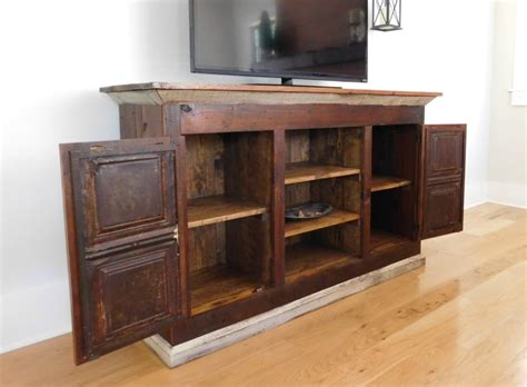 Wood Media Cabinet by Reclaimed Wood Media Console Tv Cabinet Tenpenny House