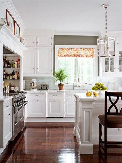 spectacular white kitchens  dark wood floors page
