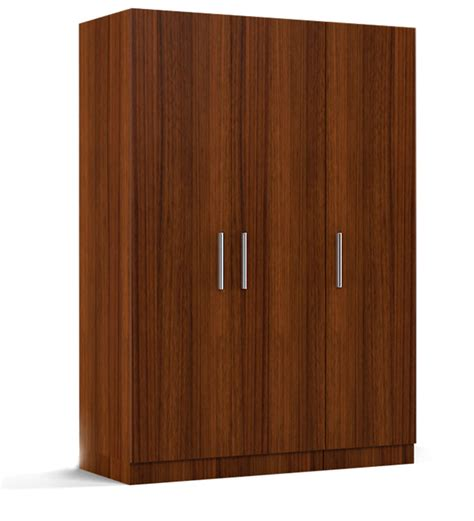 Three Door Wardrobe by 3 Doors Wardrobe With Mirror In Viking Teak Finish Rawat Furniture