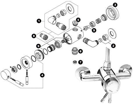 Spare Part Aspira triton aspira mini concentric mixer shower shower spares