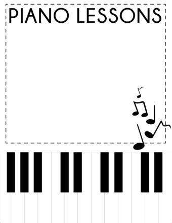 piano template card 3 ways to advertise piano lessons wikihow