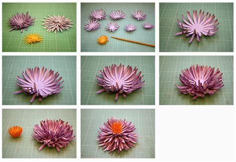 How To Make Paper Mums - bits of paper 3d spider and tea paper flowers