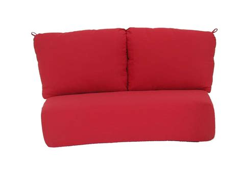 loveseat replacement cushions meadowcraft cove replacement deep seating loveseat seat