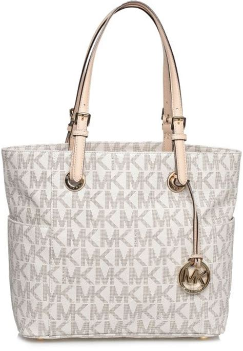 michael kors stttb  jet set monogram logo tote bag