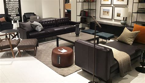 new york city modern leather furniture store room board