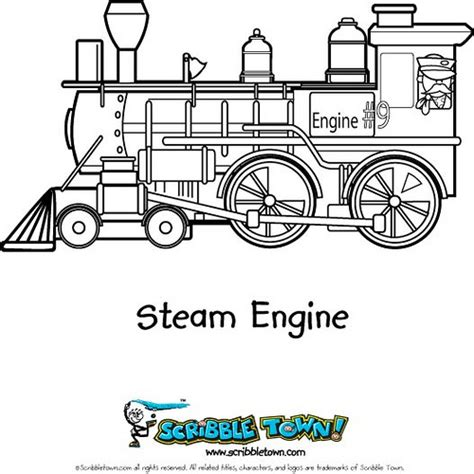 trains steam engine coloring page color a choo choo