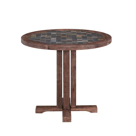 slate outdoor dining table morocco slate 36 inch outdoor dining table home