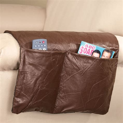 armchair storage for remote controls armrest organizer caddy leather sofa couch remote control