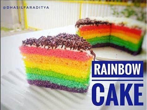teks prosedur membuat rainbow cake resep dan cara membuat rainbow cake mudah youtube