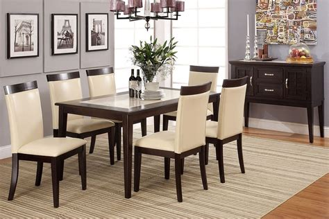 stylish dining table sets evious i marble top stylish dining table set 7pc