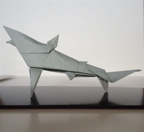 Origami Shark - origami shark by flamekurosei on deviantart