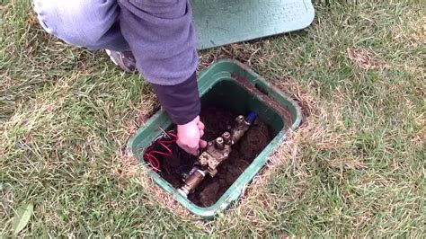 underground spring in backyard starting up your sprinkler system in the spring youtube