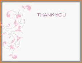11 free thank you card templates letter template word