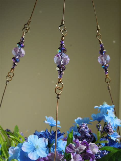 Beaded Plant Hangers - beaded copper wire plant hanger craft