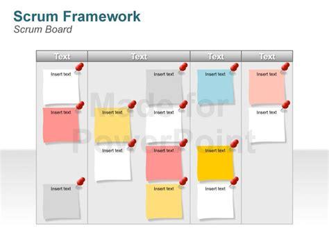 notice board design powerpoint scrum methodology diagrams editable powerpoint slides
