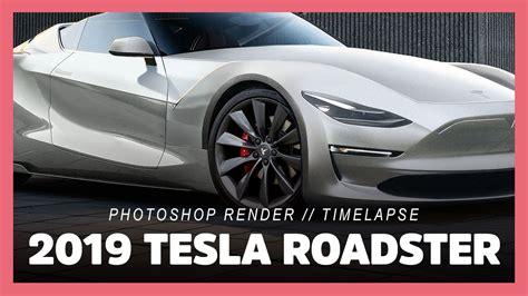 tesla roadster pd model  photoshop render