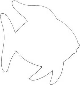 Fish Outline by Happy Day Pre K Crafts The Rainbow Fish