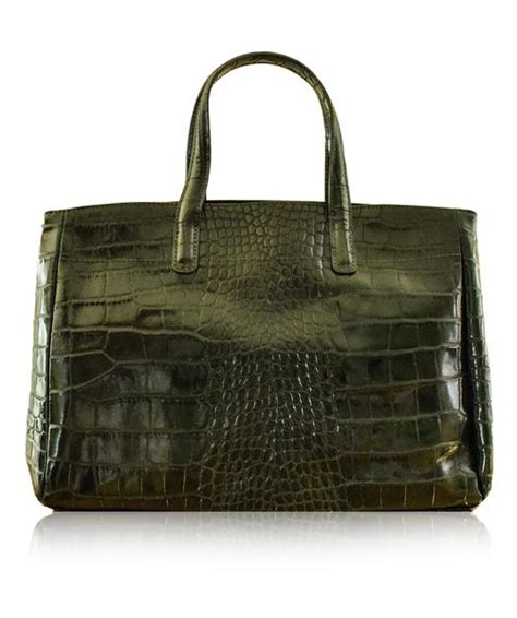 croco string rotelli shoulder bag godenzo green longch roseau style italian leather tote