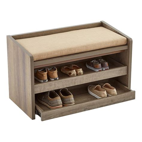shoe storage bench with sliding doors craftsman 60 w shoe storage bench with sliding doors