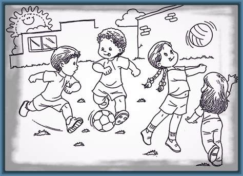dibujos de niños jugando y compartiendo imagenes de ni 241 os compartiendo en familia para colorear
