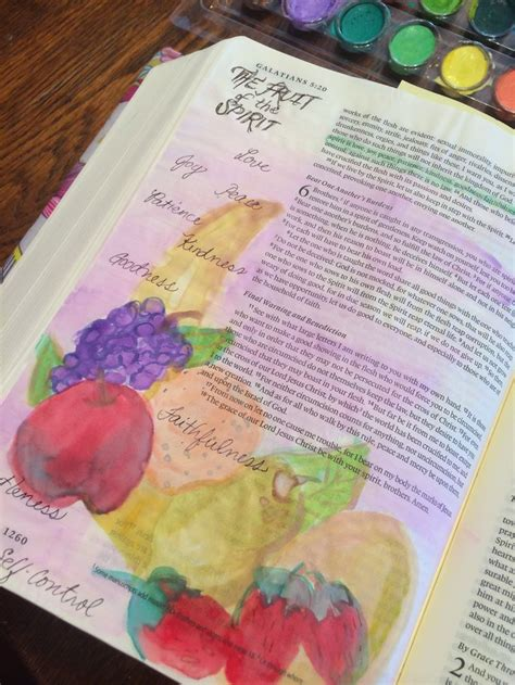 7 fruits in the bible the fruits of the spirit galatians 5 bible journaling