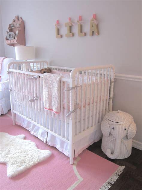pink and gray elephant nursery project nursery