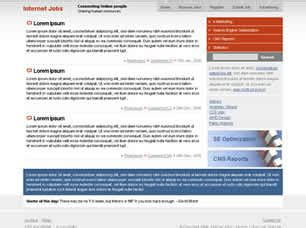 css templates for job website internet jobs free website template free css templates