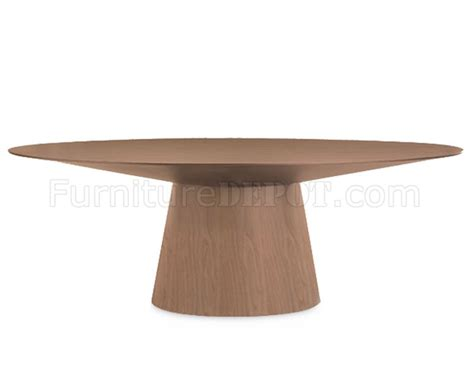 modern oval dining table walnut finish modern oval dining table