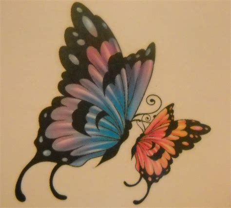 butterfly kisses tattoo big butterfly small butterfly child tattoos