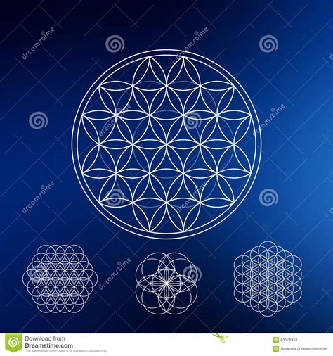 geometric element pattern sacred geometry hipster symbols and elements stock vector