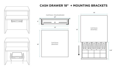 cash drawer cable wiring 18 quot automatic pos cash drawer under counter mounting