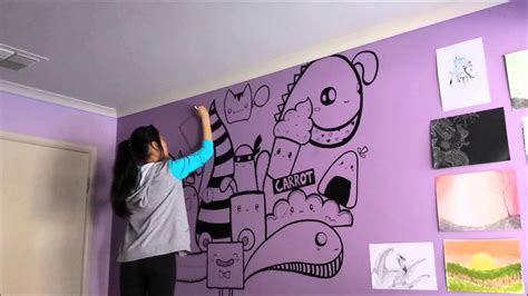 wall paiting speed painting wall art by julie youtube