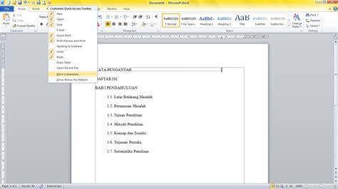 cara membuat garis titik dalam daftar isi membuat garis titik untuk daftar isi di microsoft word