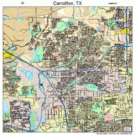 carrollton texas map carrollton texas map 4813024