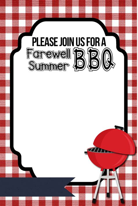Barbecue Invitation Template Free bbq invitation printable organize and decorate everything